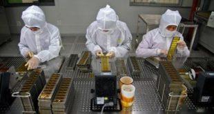 nữ làm điện tử tại nhà máy Đông Bối Đài bắc