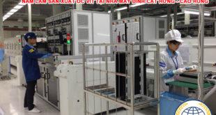 Nam làm sản xuất ốc vít tại nhà máy Đỉnh Cát Hưng Cao Hùng