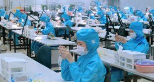 Nữ làm đóng gói tại NM sản xuất kính áp tròng