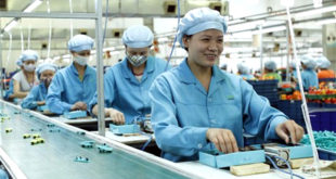 nữ sản xuất linh kiện rơ le tại Thụ Lâm