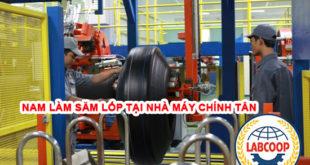 Tuyển 50 nam làm săp lốp tại NM Chính Tân, Chương Hóa, Đài Trung