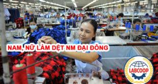 Tuyển nam nữ làm dệt tại nhà máy Đại Đông