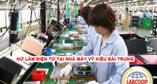 Tuyển 30 nữ làm điện tử tại nhà máy Vỹ Kiều