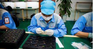 Nữ làm in bản mạch điện tử tại NM Kim Khánh Thuận