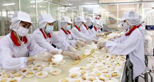 nam nữ làm bánh tại NM Cao Thịnh