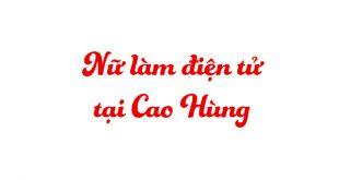 nữ làm điện tử tại Cao Hùng